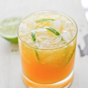 Mango & lime cocktail